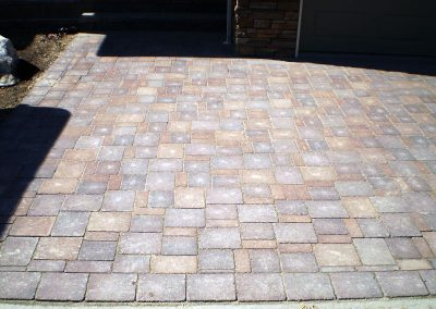 Basketweave patio using old country stone.