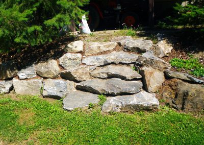 An example of very natural stone stairs.