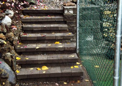 Pisa steps using reverse-a-cap for finish look.