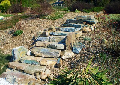 Natural stone steps, rustic & gorgeous.